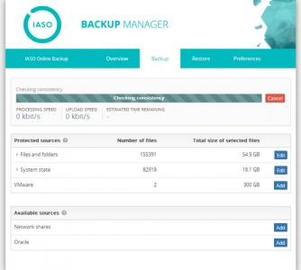 IASO backup manager