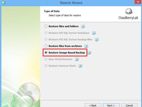 Disk Image Backup Restore