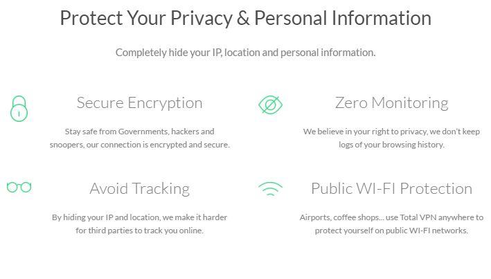 TotalVPN Privacy