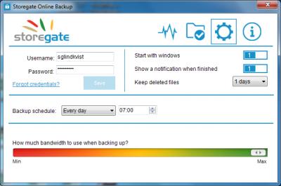 Storegate Control Panel