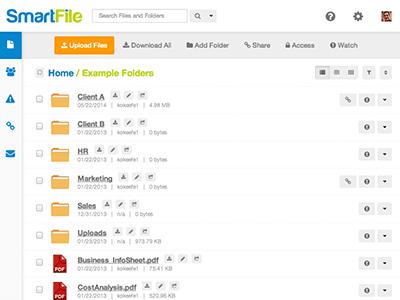 Smartfile Dashboard