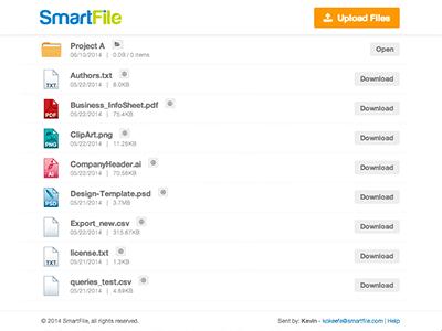 Smartfile Link Sharing Page