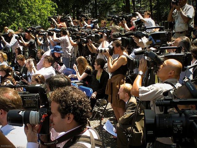 media and press in park