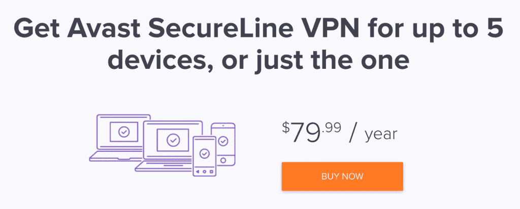 CTA Avast vpn price