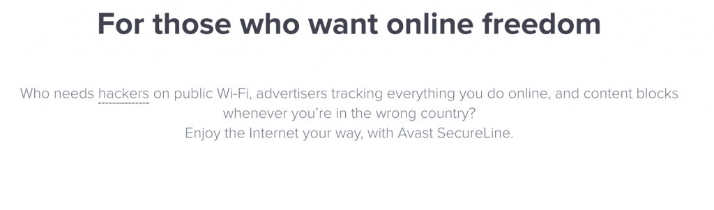 features avast vpn