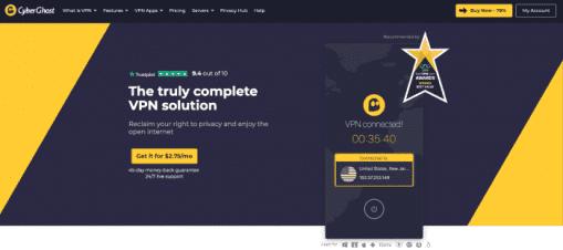 CyberGhost VPN Homepage